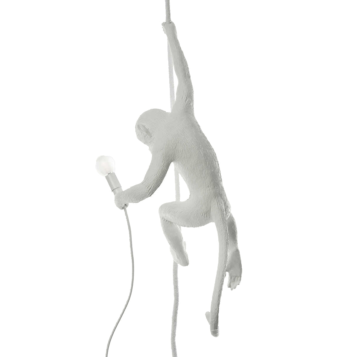 Hanging Monkey Light White