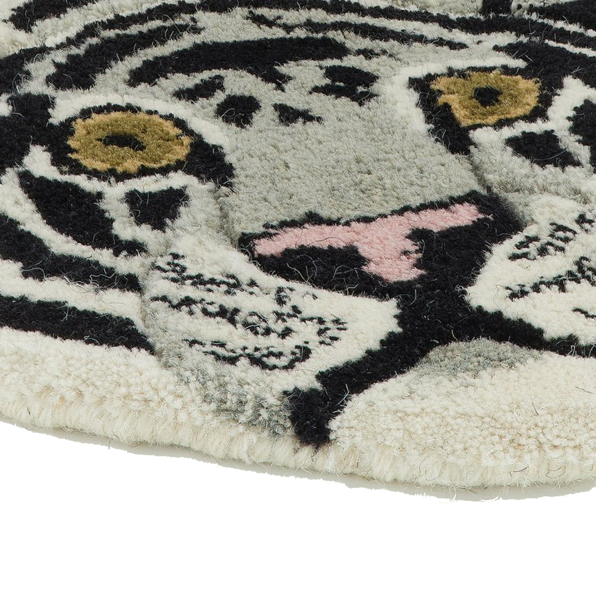 Snow Tiger Rug Large