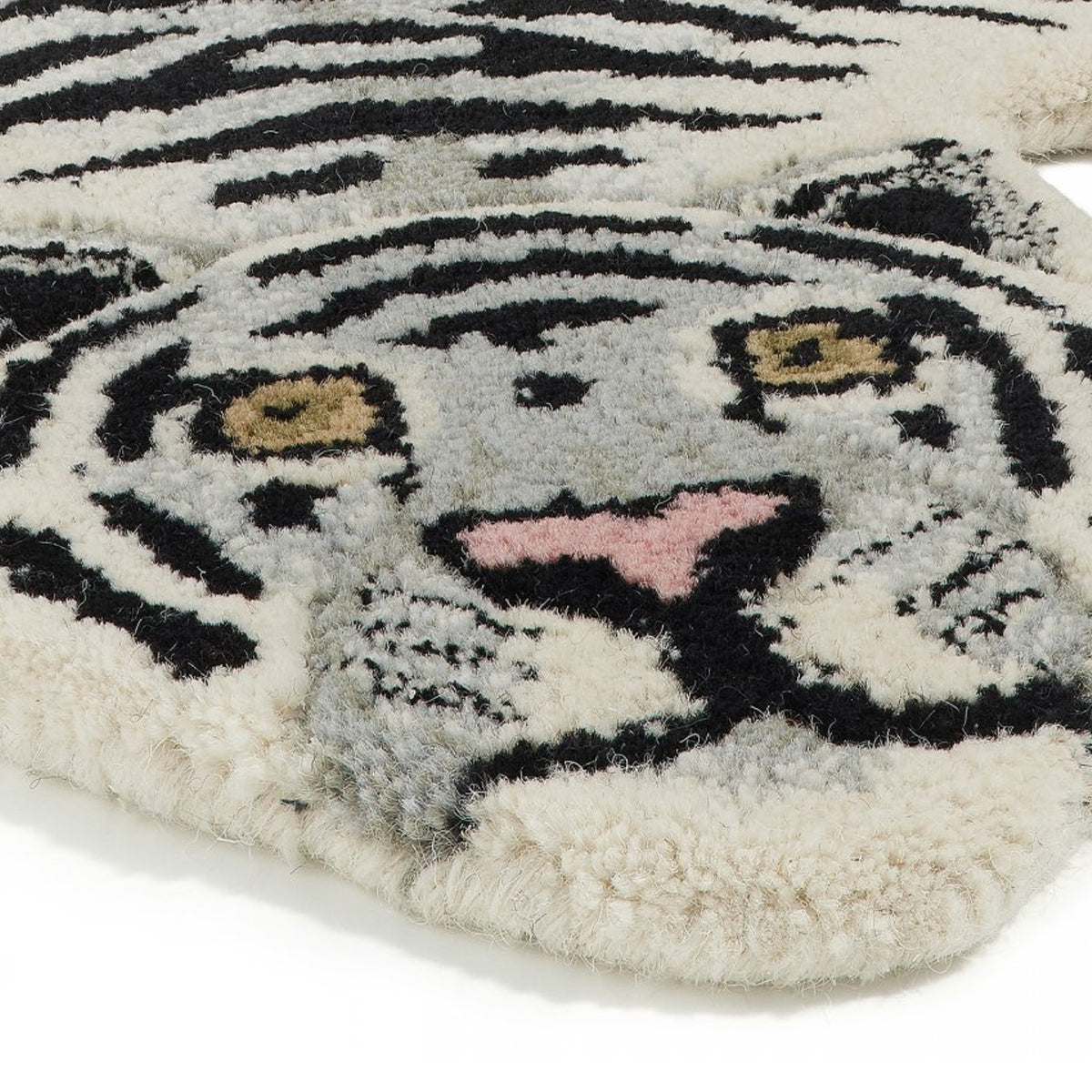 Snow Tiger Rug Small