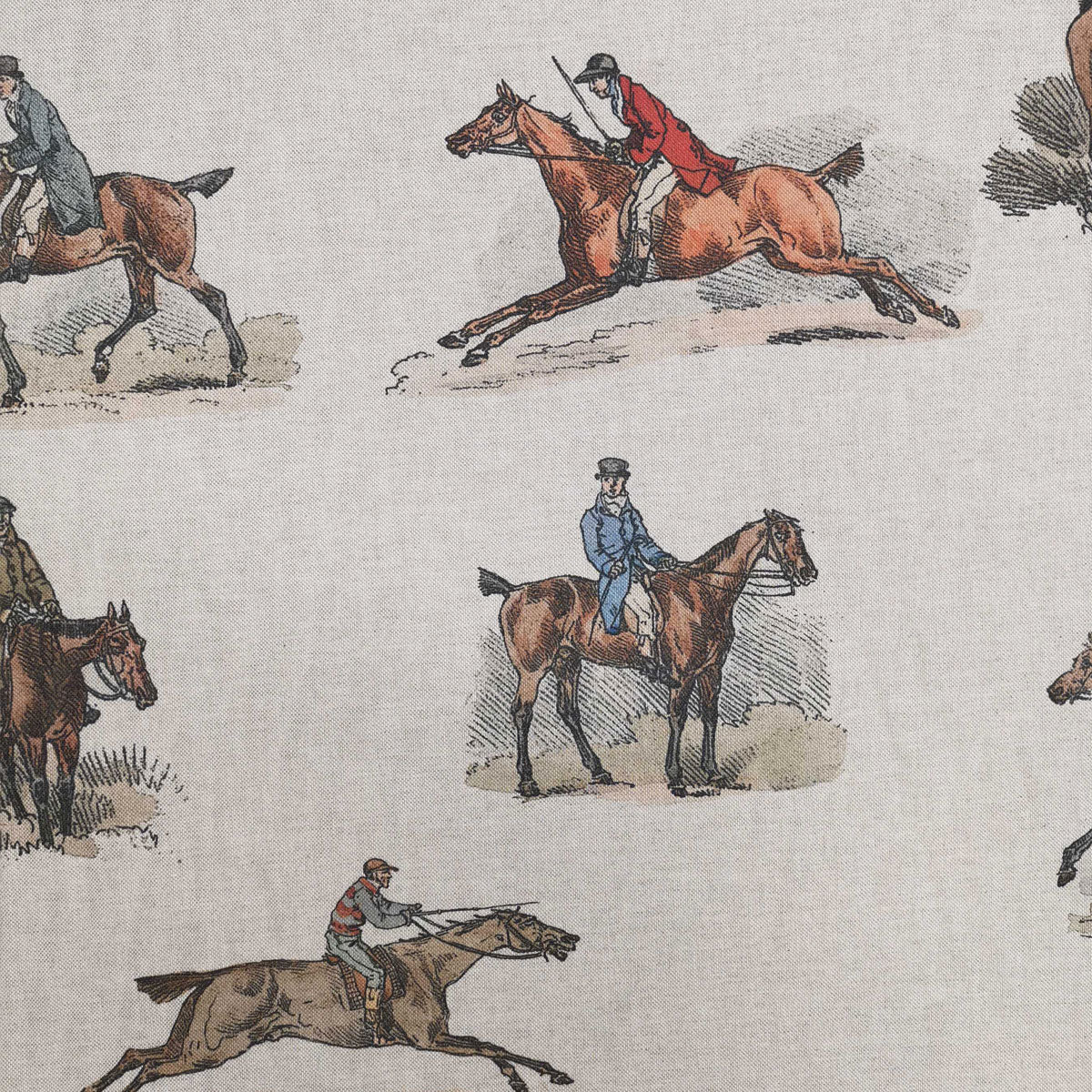 Vintage Horse Fabric