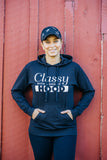 Classy With a Side of Hood Hoodie - BLACK/BLACK