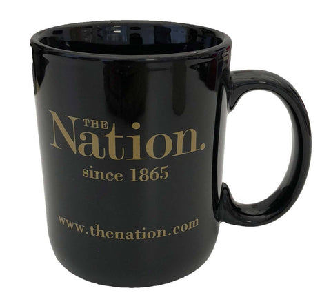 The Nation Logo Mug in Black