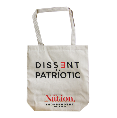"""Dissent is Patriotic"" Tote Bag"