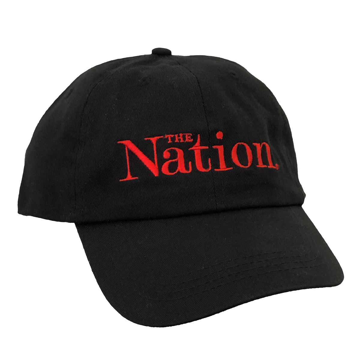 The Nation Logo Baseball Cap in Black