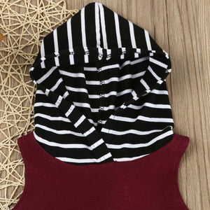 Hooded Striped Set