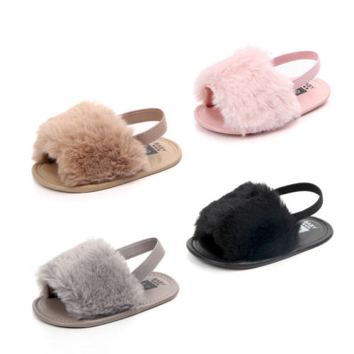 Fluffy Fur Summer Slippers
