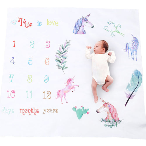 Unicorn Milestone Blanket