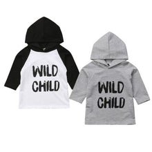 Load image into Gallery viewer, Wild Child 3/4 Hooded Sweatshirt Tee
