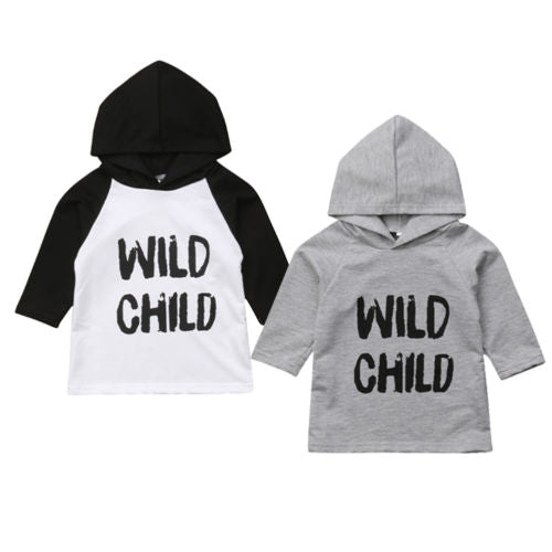 Wild Child 3/4 Hooded Sweatshirt Tee