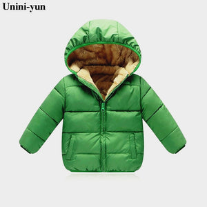 Duck Down Kids Puffer Jacket - Green