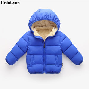 Duck Down Kids Puffer Jacket - Blue