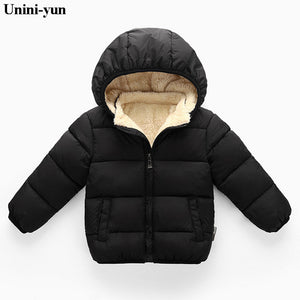 Duck Down Kids Puffer Jacket - Black