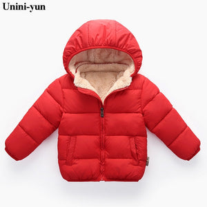 Duck Down Kids Puffer Jacket -Red