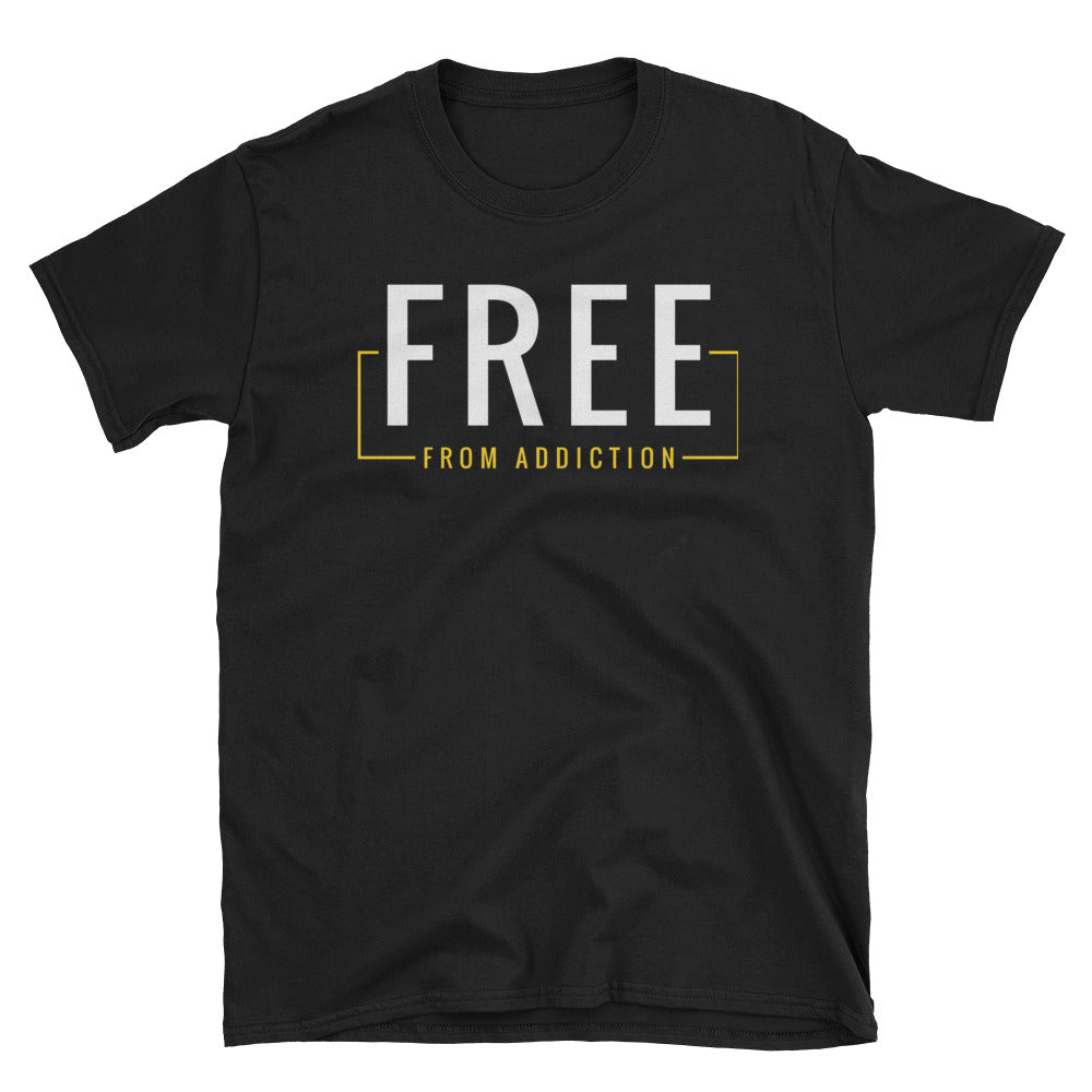Free from Addiction Black Tee