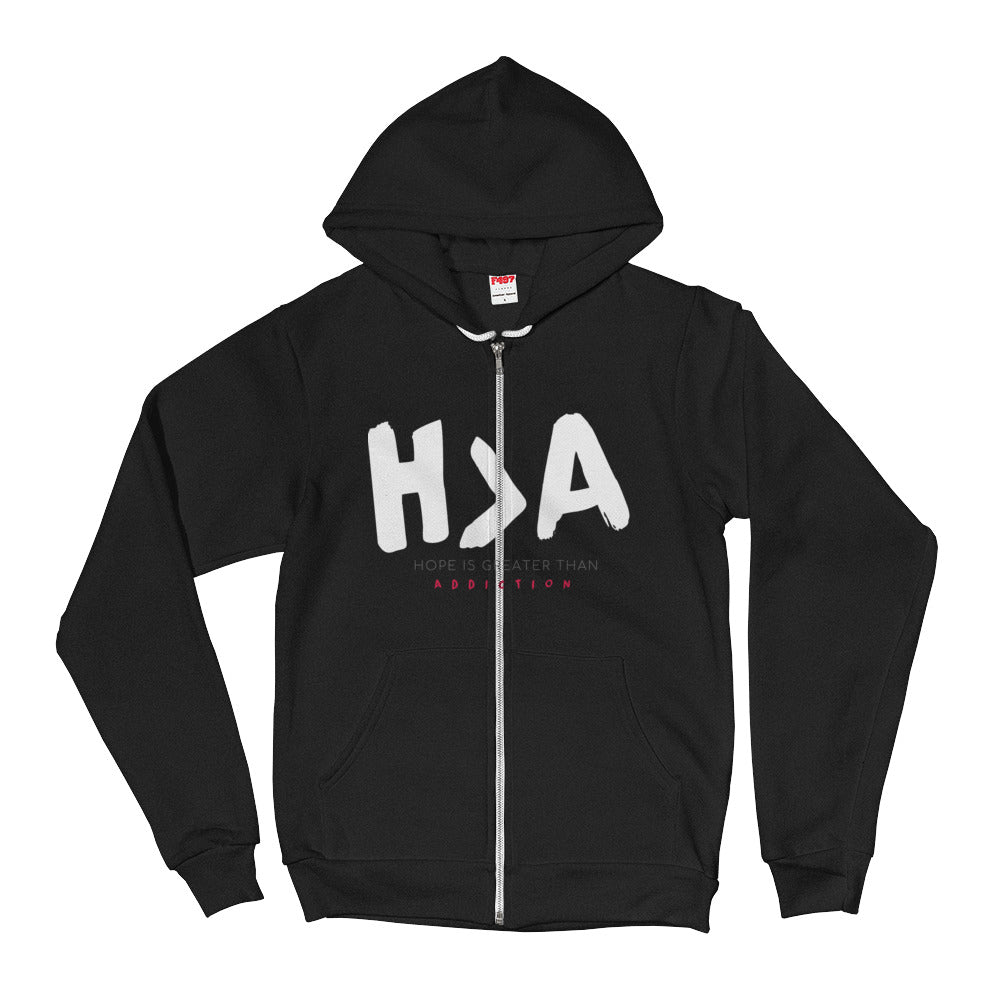 Hope Is Greater Than Addiction Hoodie | H > A Design