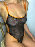 Lace Body Suit ~ Black