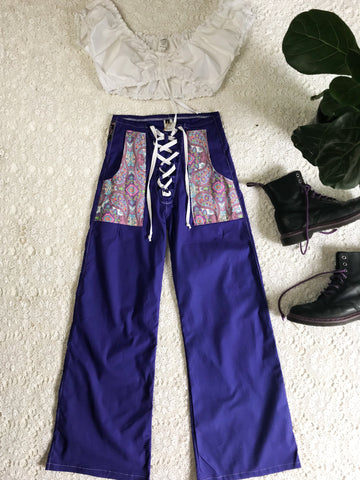 Lace up Flares ~ Purple Haze