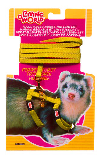 LIVING WORLD FERRET HARNESS/LEAD SET YEL