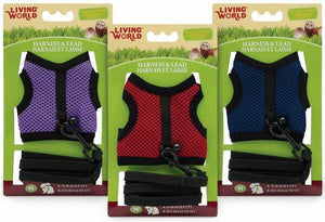 LIVING WORLD SMALL ANIMAL FABRIC HARNESS AND LEAD SET MEDIUM