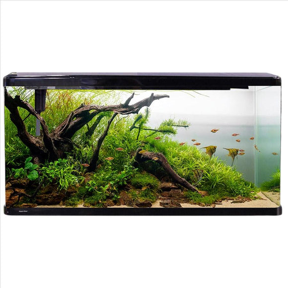 AQUA ONE LIFESTYLE 190 COMPLETE GLASS AQUARIUM 100CM 190L GLOSS BLACK TANK