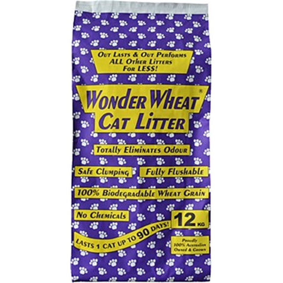 WONDER WHEAT CAT LITTER 12KG/24LTR