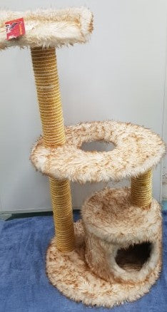 SUPER FLEECE WITH CUBBY SCRATCHER - PET447
