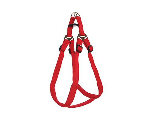 HARNESS STEPIN PADDED 15MM RED
