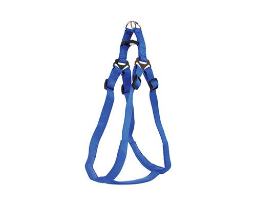 HARNESS STEPIN PADDED 25MM BLUE