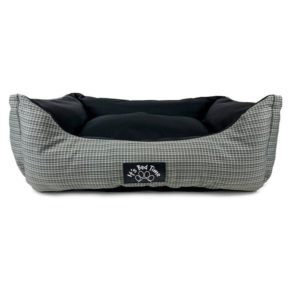 ITS BED TIME LOUNGER GREY CHECK MEDIUM