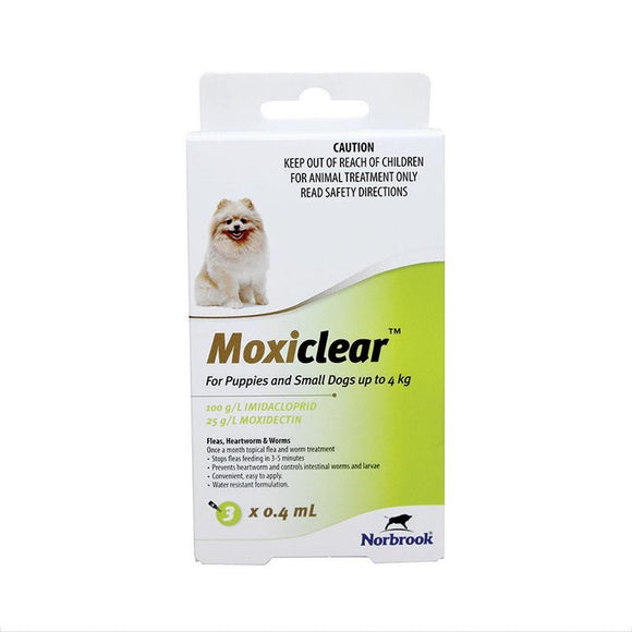 MOXICLEAR FOR PUPPIES AND SMALL DOGS UP TO 4KG