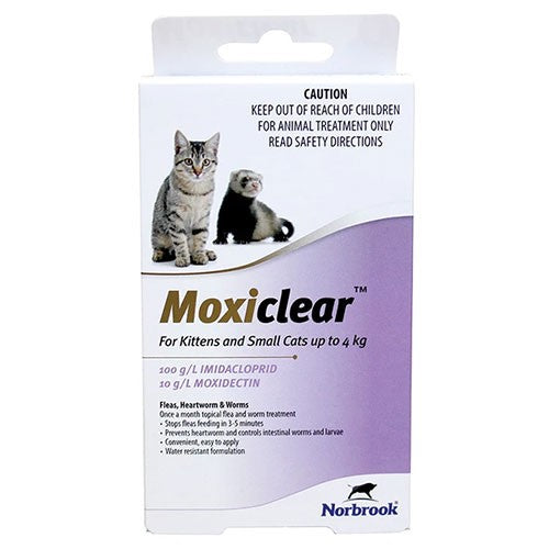 MOXICLEAR FOR KITTENS AND SMALL CATS UP TO 4KG 3 PACK