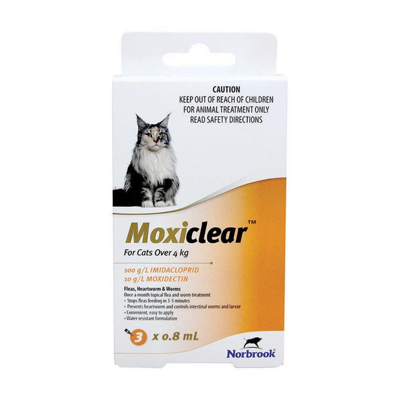 MOXCLEAR FOR CATS OVER 4KG 3 PACK
