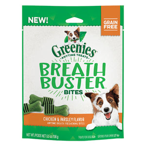 GREENIES BREATH BUSTER BITES CHICK & PARSLEY 156G