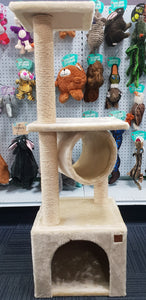 CAT TOWER WITH LARGE CUBBY - PET696