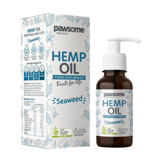 PAWSOME ORG HEMP OIL SEAWEED 100ML