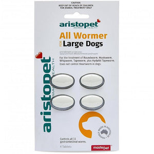 ARISTO ALL WORMER LARGE DOGS 4PK