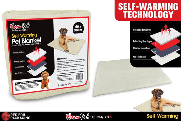 SELF WARMING PET MAT 60X90CM