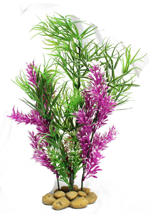 AQUATOPIA GREEN AND PURPLE PLANT 30CM