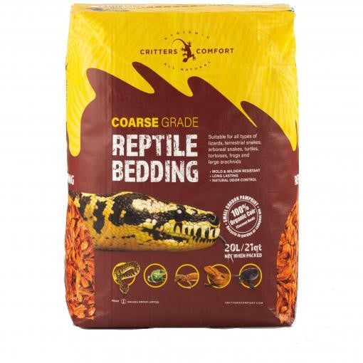 REPTILE ONE CRITTERS COMFORT BEDDING COARSE 20L