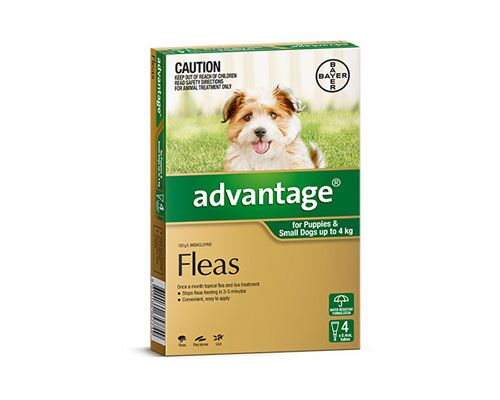 ADVANTAGE SMALL DOG UP TO 4KG