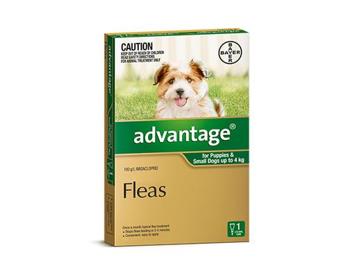 ADVANTAGE DOG 0-4KG 1PK