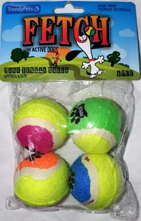 MINI TENNIS BALLS - 4 PACK