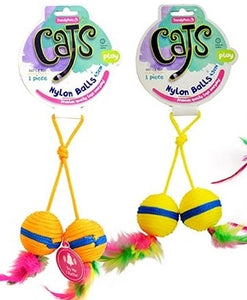 NYLON BALLS CAT TOY