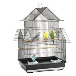 PEAKED BIRD CAGE 48X37X67CM BLACK OR WHITE