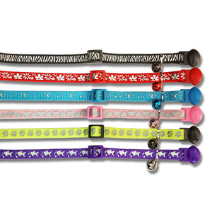 CAT COLLAR REFLECTIVE PRINTED ASSORTED