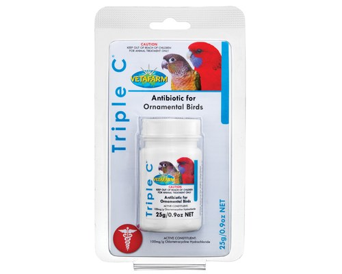 TRIPLE C - ANTIBIOTICS FOR ORNAMENTAL BIRDS