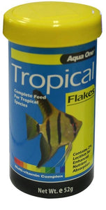 AQUA ONE TROPICAL FISH FLAKES - 52G