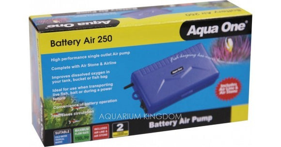 AQUA ONE BATTERY AIRPUMP - 250
