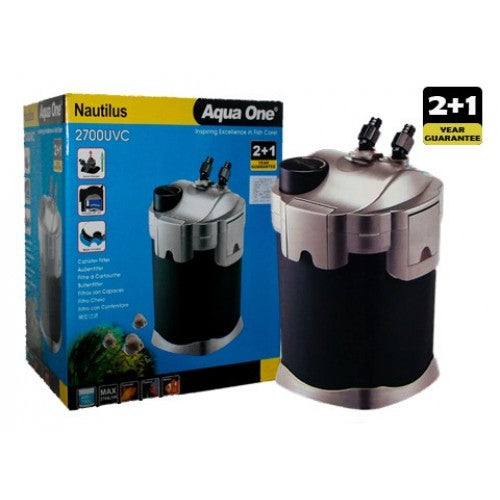 AQUA ONE NAUTILUS CANISTER FILTER 2700UV