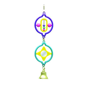 AVIONE TWIN RINGS W/ STAR BEADS MIRROR BELL